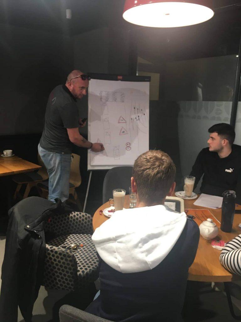 jeremy teaching a pre test lesson